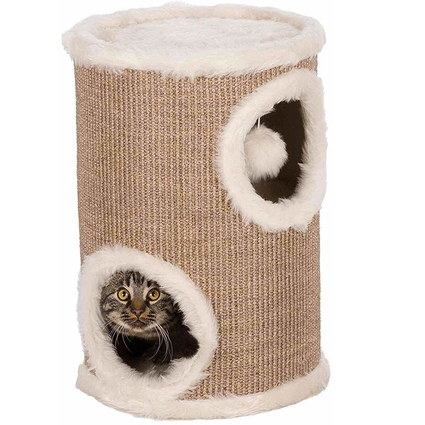Домик для кошек TRIXIE Башня, коричневый, бежевый,