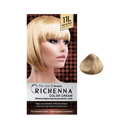 Купить Краска для волос RICHENNA Color Cream 11L Bleaching Blonde