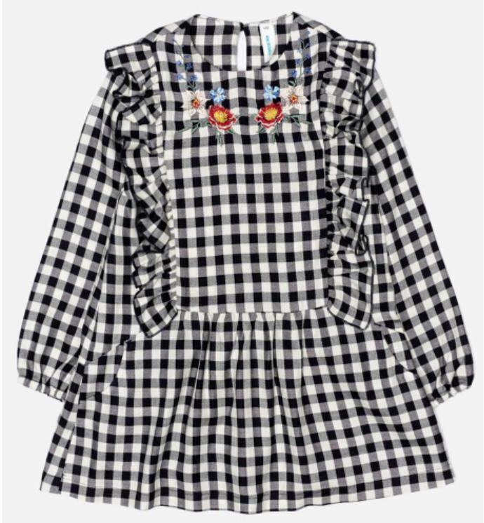 Платье в клетку с вышивкой Acoola 20220200285, р. 128