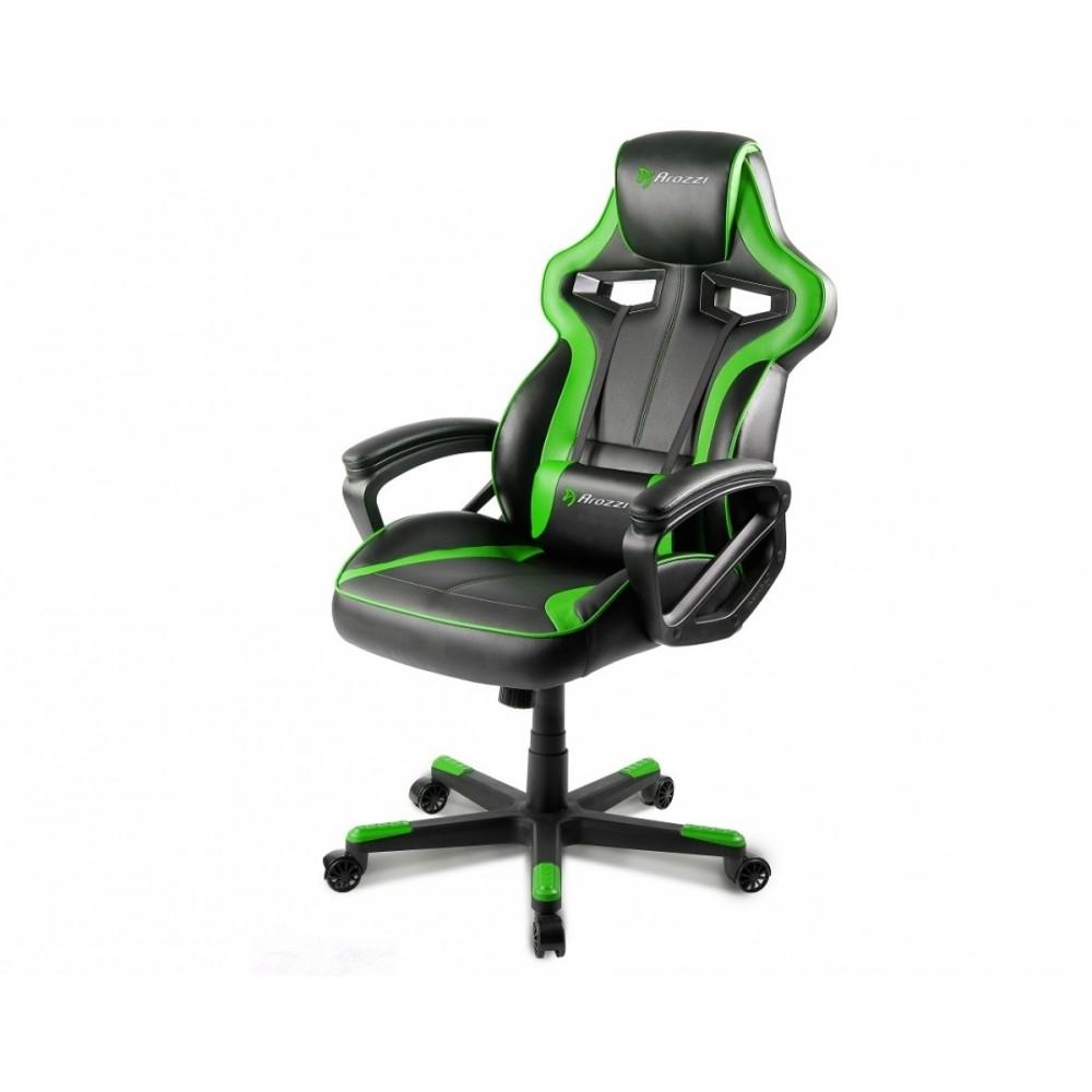 Игровое кресло Arrozzi milano-gn, зеленый/черный фото