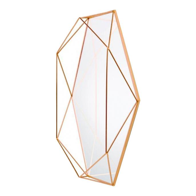 Зеркало настенное Umbra Prisma 56,5х43 см, медь