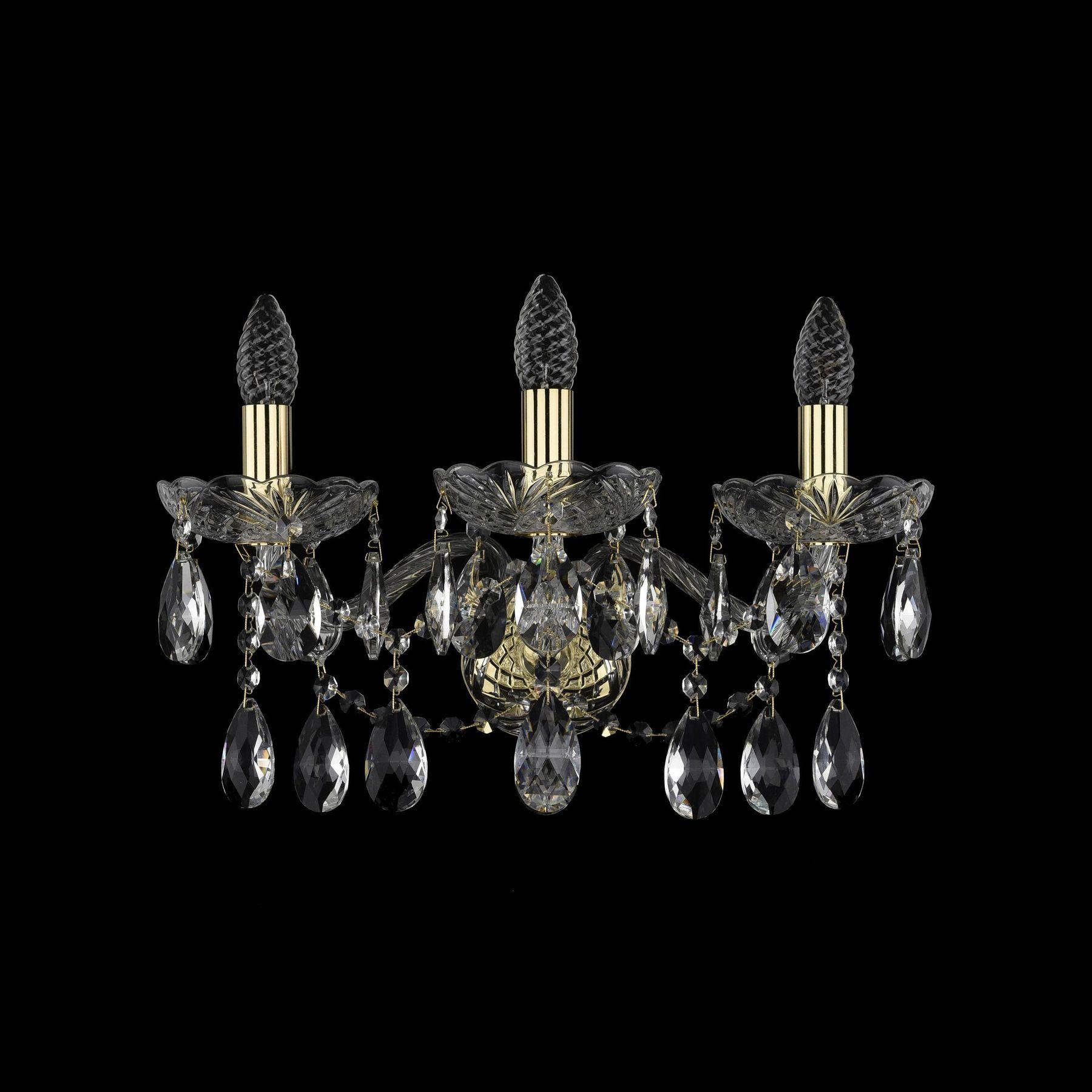 Хрустальное бра 1413B/3/165/XL G Bohemia Ivele Crystal