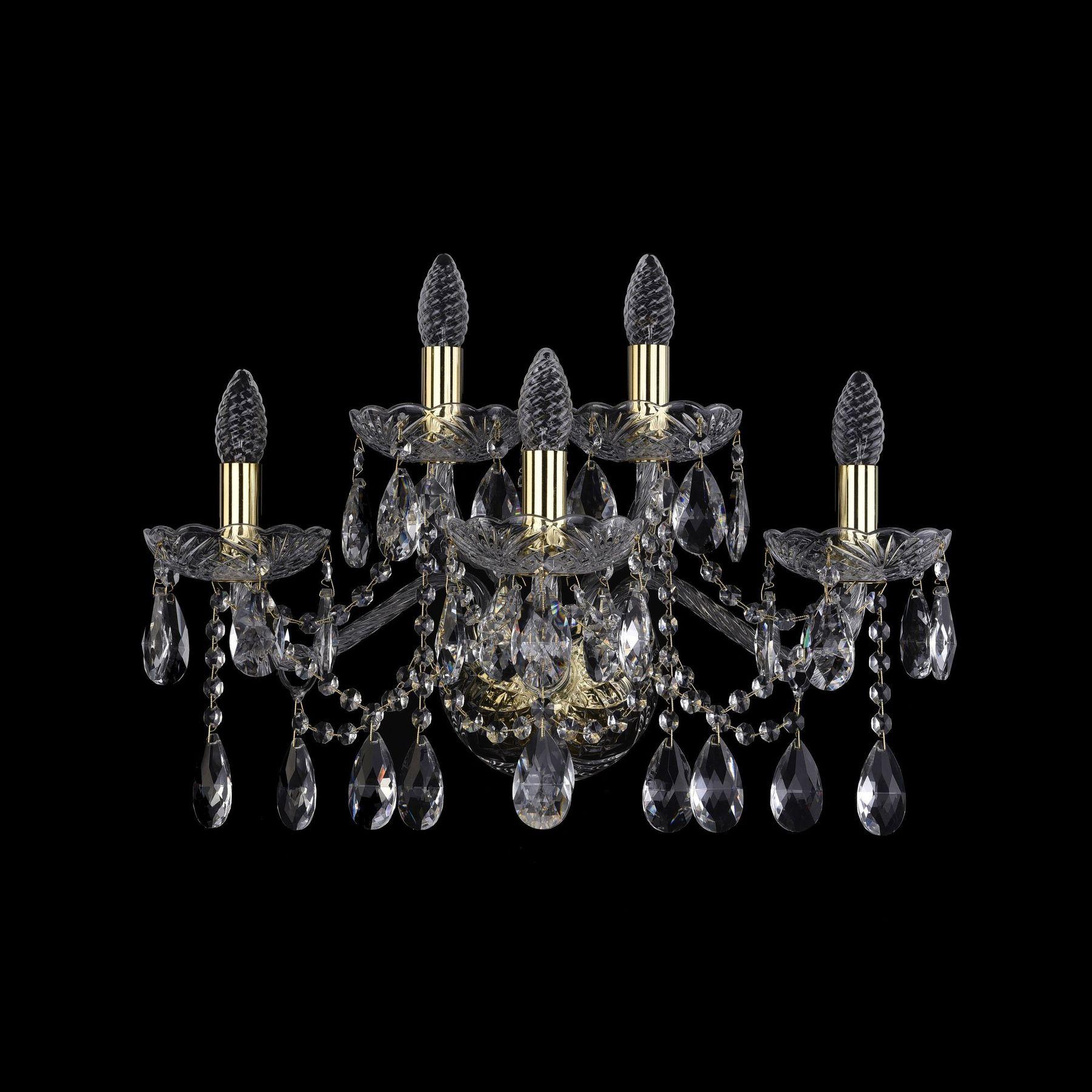 Хрустальное бра 1413B/3+2/200/XL G Bohemia Ivele Crystal
