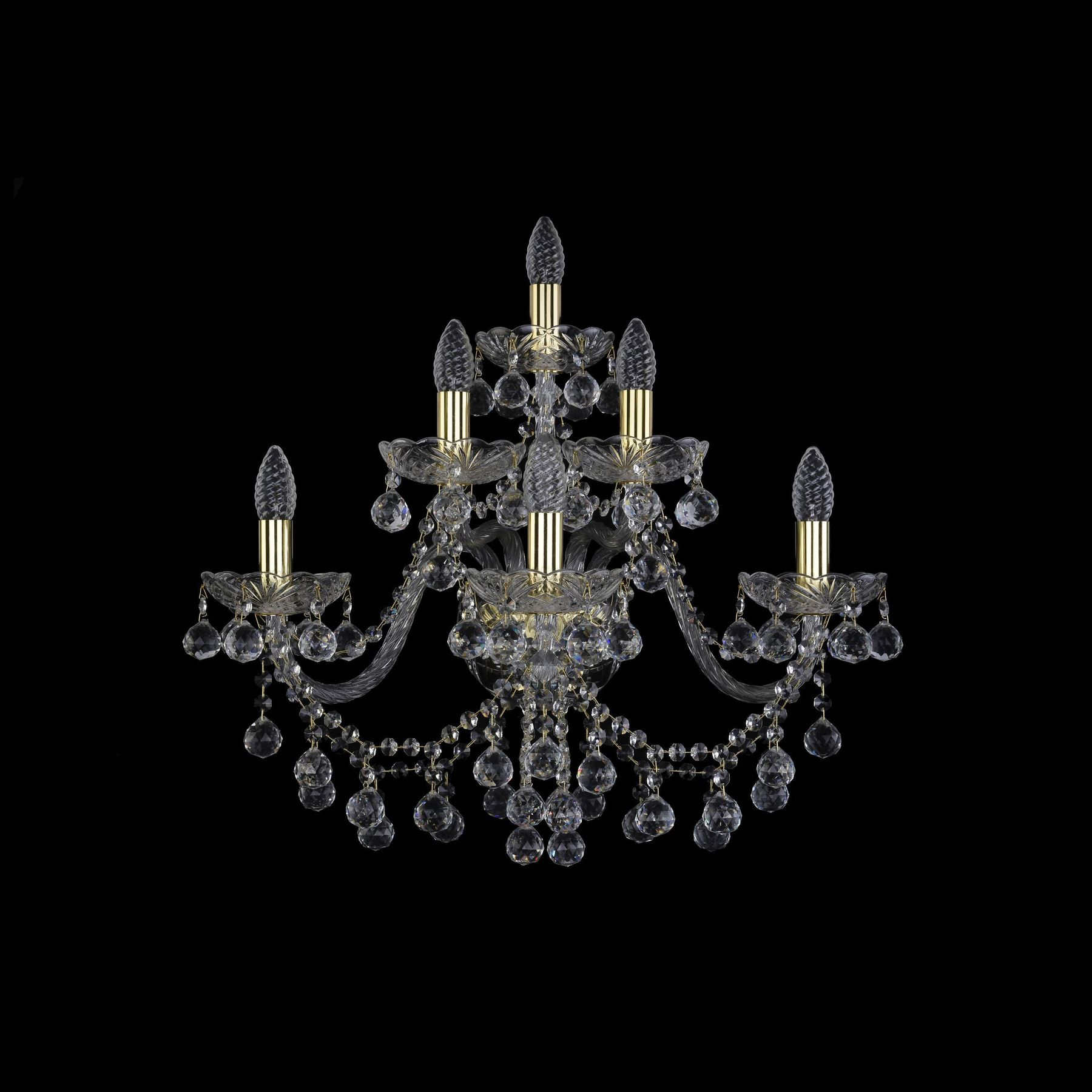 Хрустальное бра 1409B/3+2+1/240/XL G Bohemia Ivele Crystal