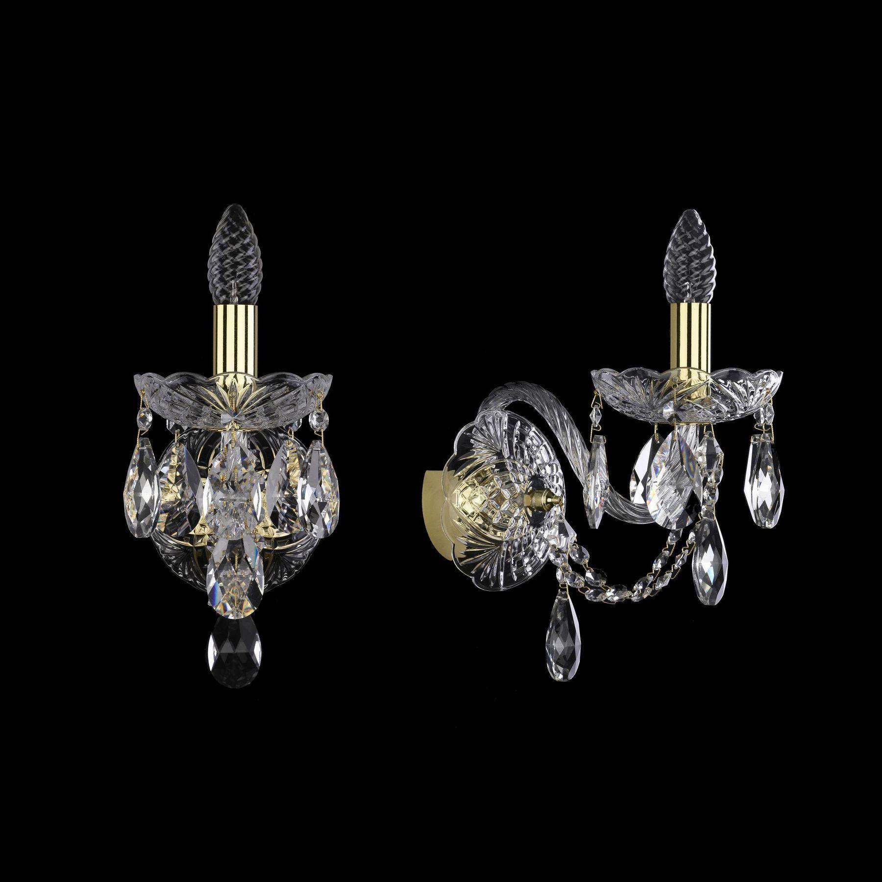 Хрустальное бра 1406B/1/160/XL G Bohemia Ivele Crystal