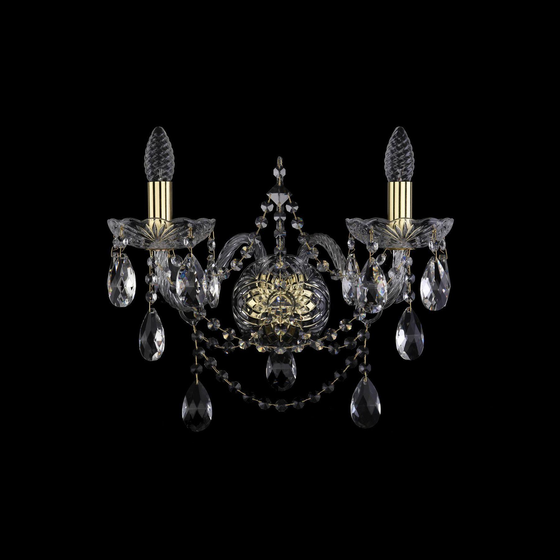 Хрустальное бра 1411B/2/195/XL G Bohemia Ivele Crystal