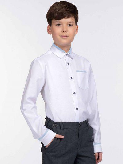 Купить 10451, Рубашка для мальчиков Смена цв. белый р.134-68, SMENA,