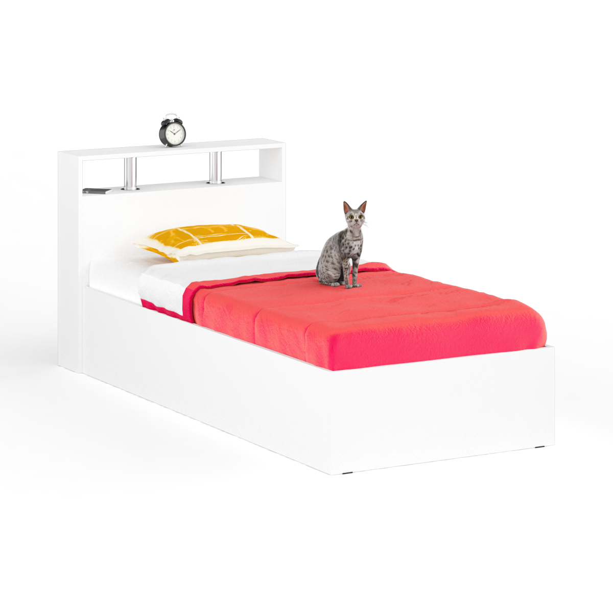 Кровать Камелия 900+Осн белый, 94х204х88 см