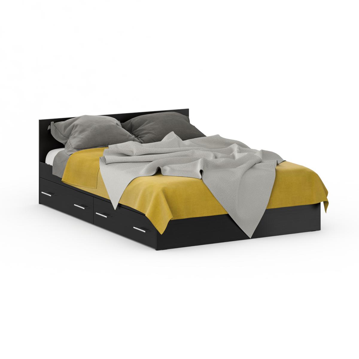 Кровать с ящиками Стандарт 1400 венге, 144х204х70