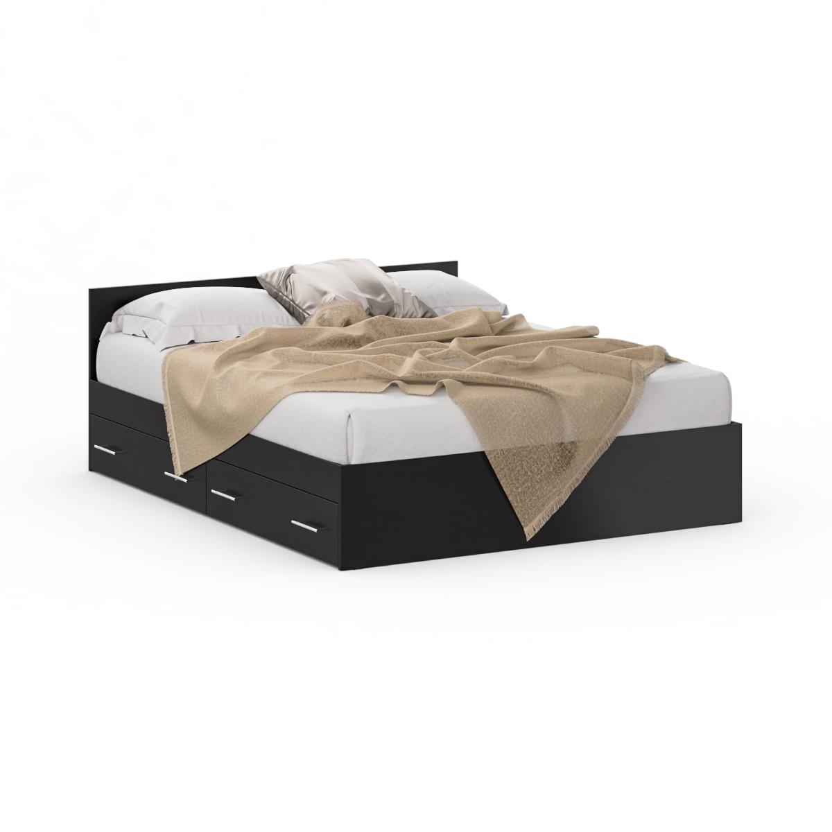 Кровать с ящиками Стандарт 1600 венге, 164х204х70