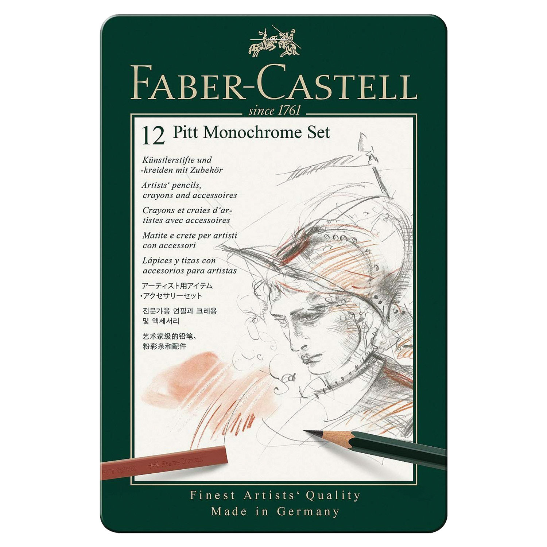 Набор художественный Faber Castell Pitt Monochrome,