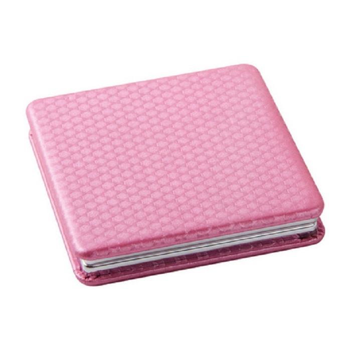 Купить Зеркало Dewal, карманное квадратное «Палитра», светло-розовое