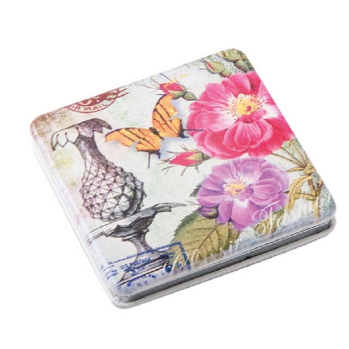 Купить Зеркало Dewal карманное квадратное «Классическая мода», бабочка