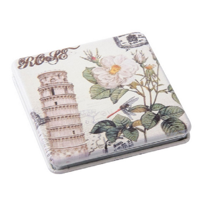 Купить Зеркало Dewal карманное квадратное «Парижская мода», башня
