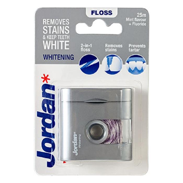 Зубная нить, Jordan, Whitenning, 25 м