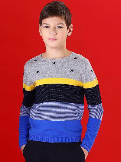 Джемпер для мальчиков Noble People цв. разноцветный