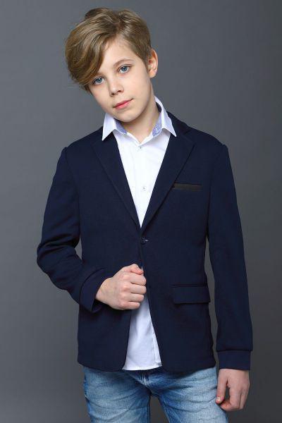 Пиджак для мальчиков Noble People цв. синий р.122