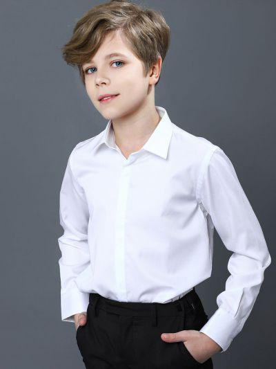 Купить 19003-240/20, Рубашка для мальчиков Noble People цв. белый р.152,