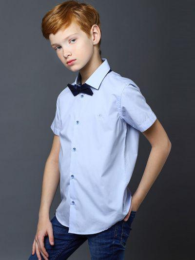 Купить 19003-252/1/20, Рубашка для мальчиков Noble People цв. голубой р.128,