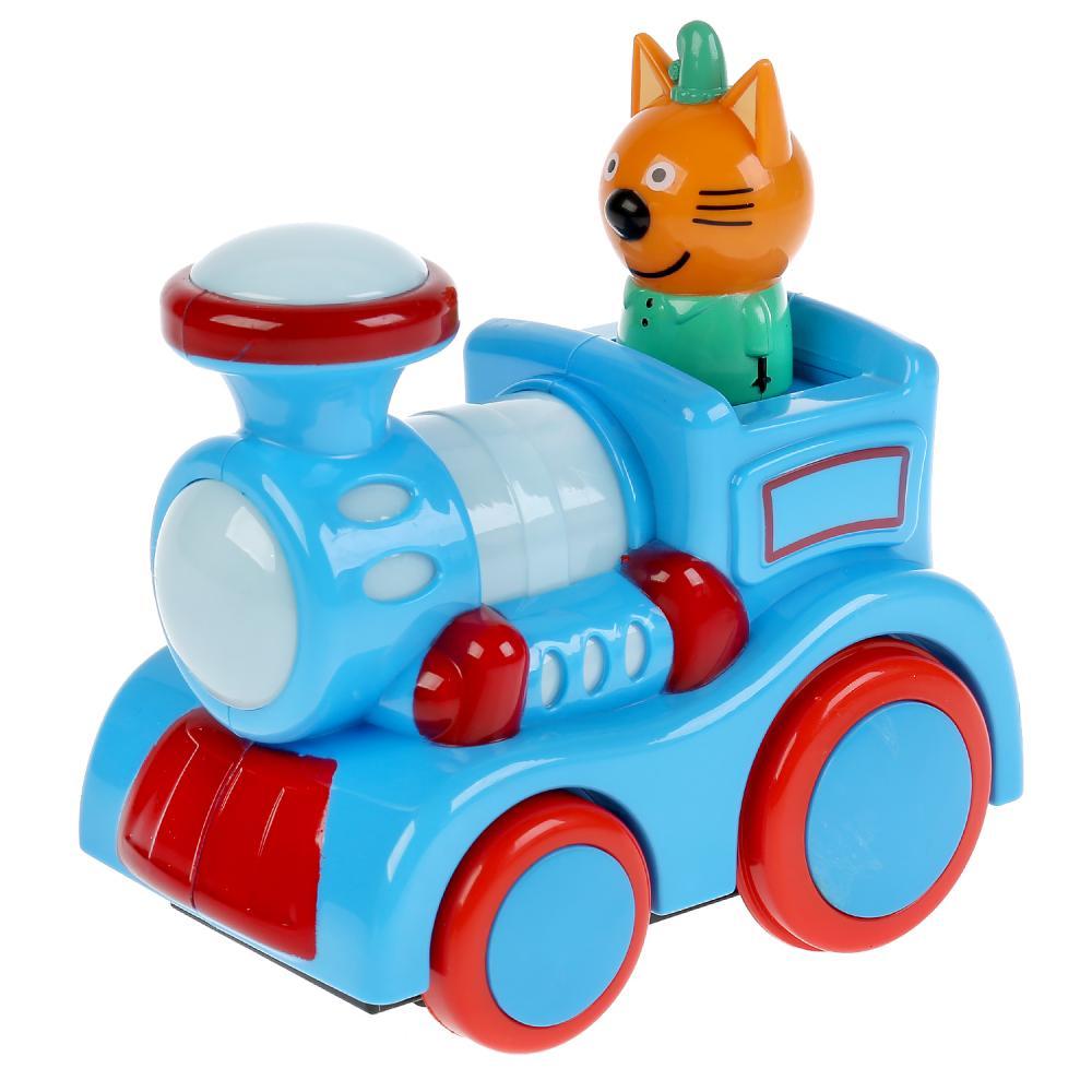 Купить Музыкальный паровозик Умка Три кота, самостоятельное движение B1895208-R,
