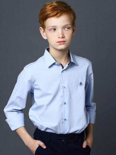 Купить 19003-300/20, Рубашка для мальчиков Noble People цв. голубой р.128,
