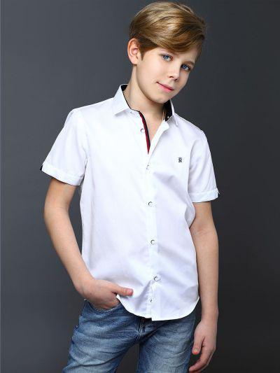 Купить 19003-306/1/20, Рубашка для мальчиков Noble People цв. белый р.128,