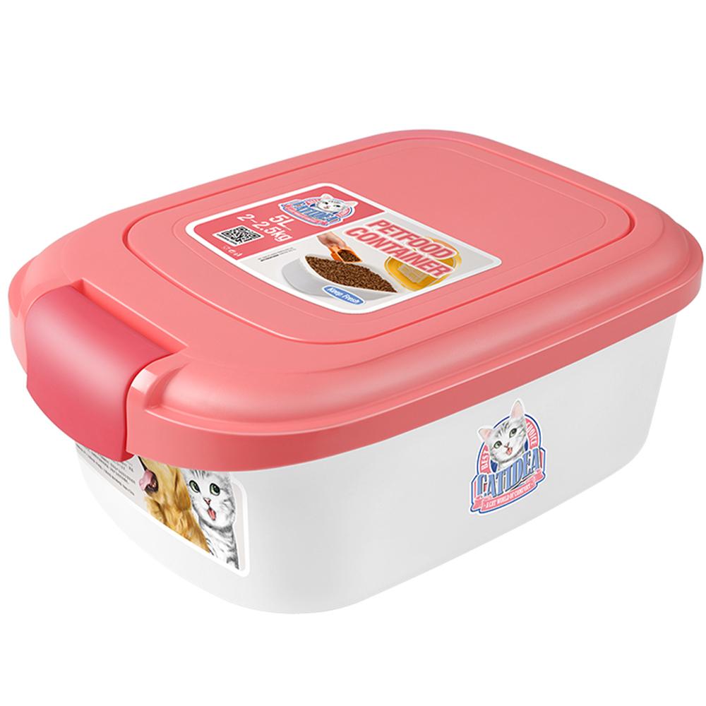 Контейнер для корма Catidea 2л , розовый