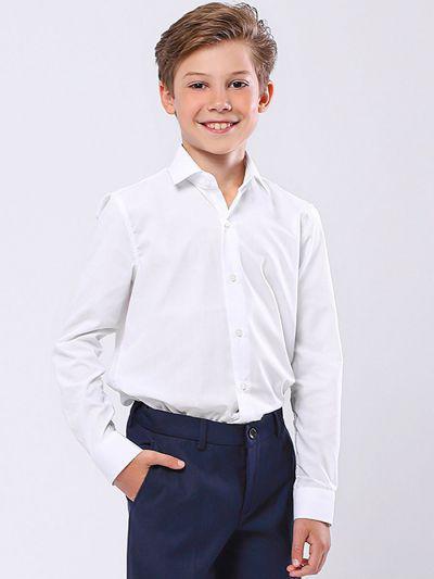 Купить 19003-332, Рубашка для мальчиков Noble People цв. белый р.152,