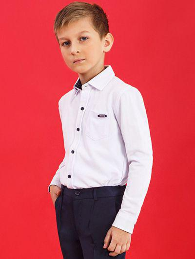 Купить 19003-336, Рубашка для мальчиков Noble People цв. белый р.164,