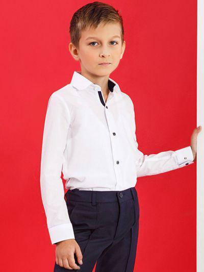Купить 19003-337, Рубашка для мальчиков Noble People цв. белый р.158,