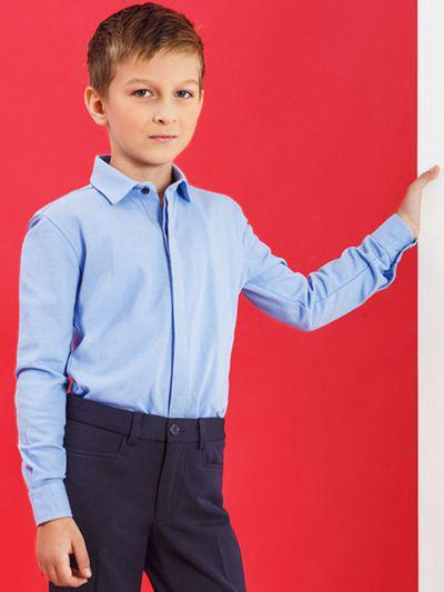 Купить 19003-338, Рубашка для мальчиков Noble People цв. голубой р.128,