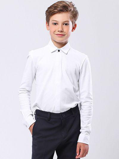 Купить 19003-338, Рубашка для мальчиков Noble People цв. белый р.122,