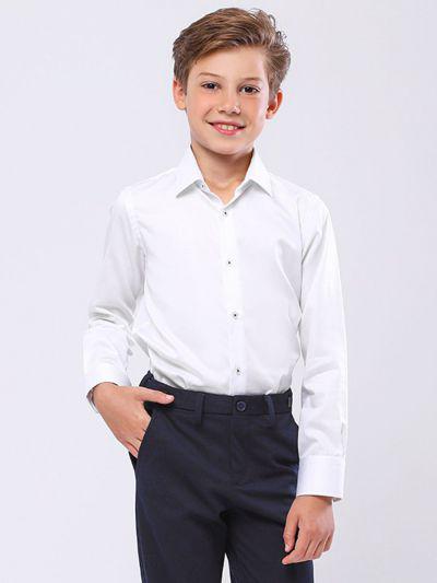 Купить 19003-409, Рубашка для мальчиков Noble People цв. белый р.122,