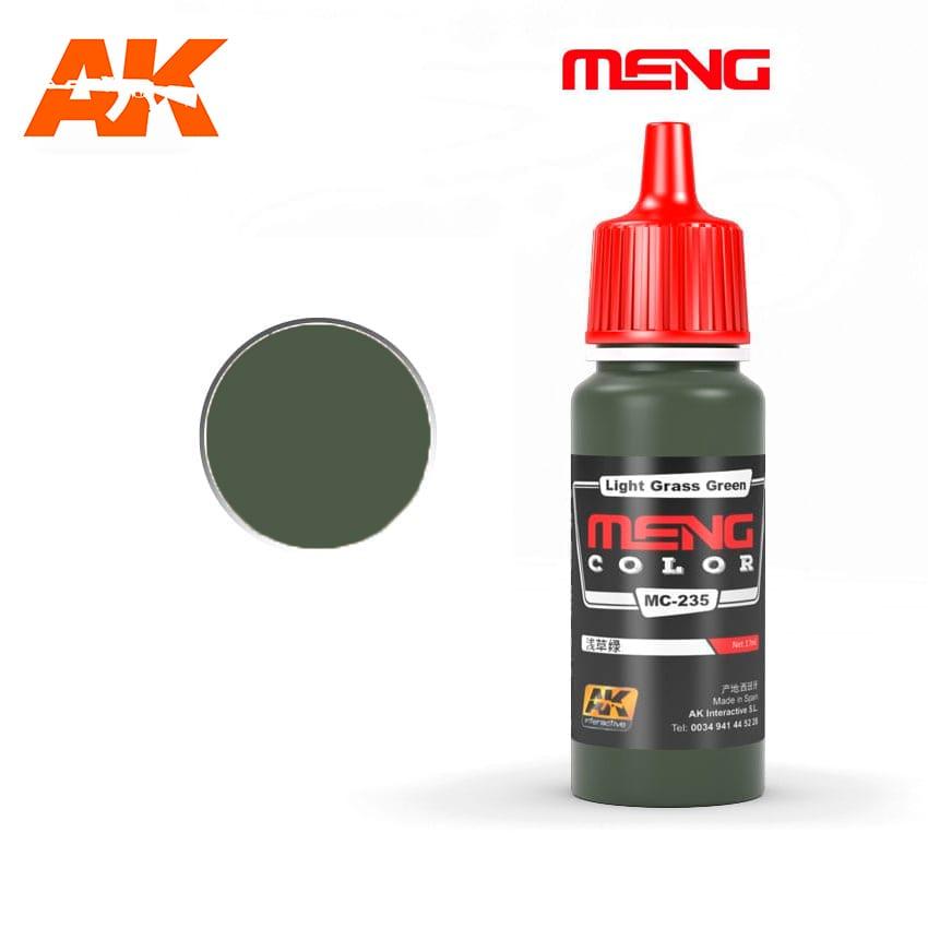 Купить Краска акриловая AK Interactive Light Grass Green, 17 мл,