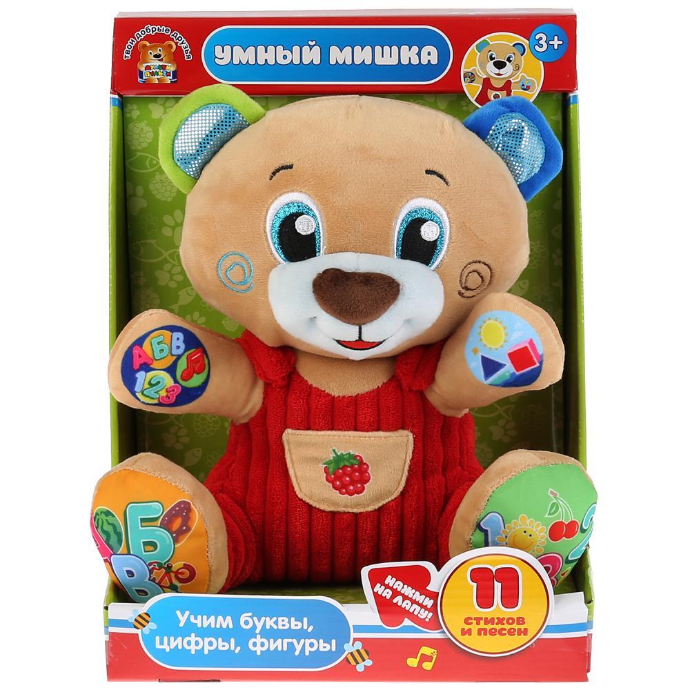 Мягкая игрушка Мульти-Пульти Медведь. Учим цифры, буквы, формы, 25 см V92637-25