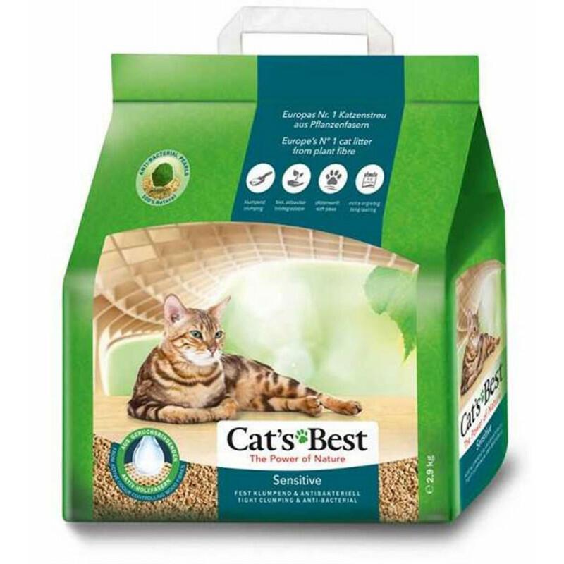 Наполнитель Cat\'s Best Sensitive Древесный комкующийся для животных 2,9кг