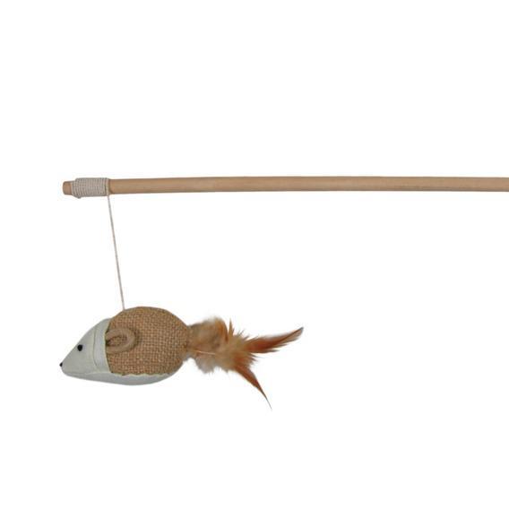 Игрушка для кошек Trixie Удочка с перьями 50 см TX-4106 фото