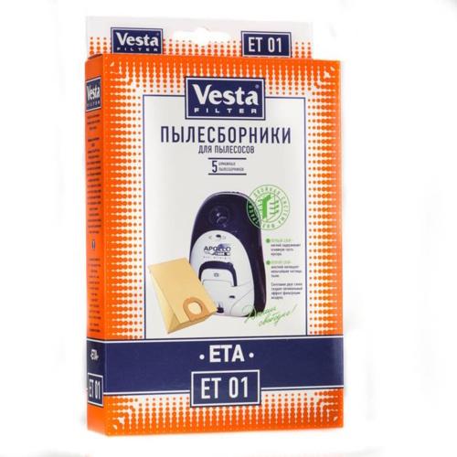 Пылесборник для пылесоса Vesta filter ET 01 5 шт.