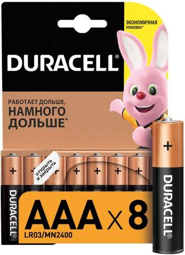 Батарейка Duracell LR03-8BL Basic