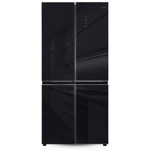 Холодильник многодверный Ginzzu NFK-525 черное стекло