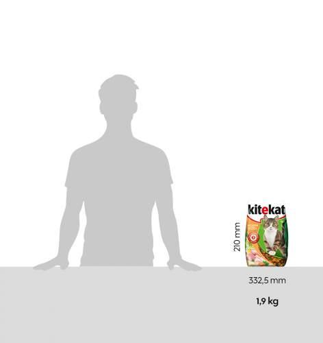 Миниатюра Сухой корм для кошек KiteKat, ассорти с курицей и индейкой, 1,9кг №3