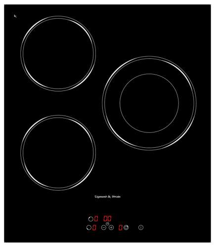 Встраиваемая варочная панель электрическая Zigmund & Shtain CNS 302.45 BX Black