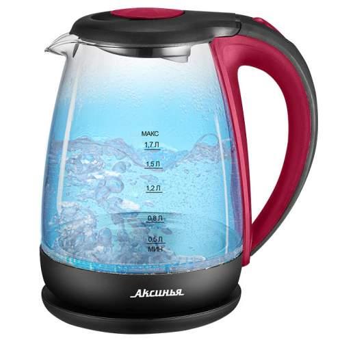 Чайник электрический Аксинья КС-1040 Red/Black
