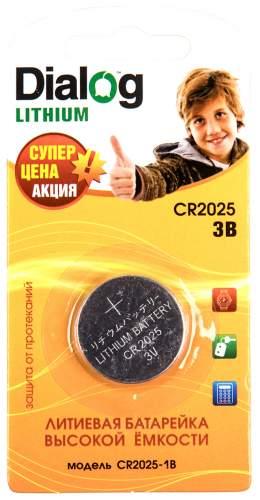 Батарейка Dialog Lithium CR2025-1B 1 шт