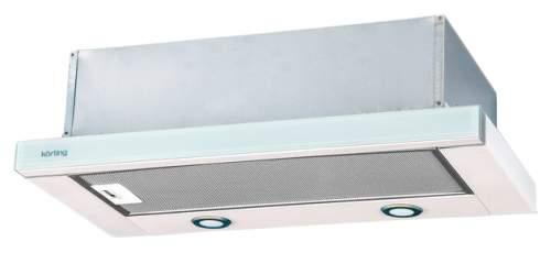Вытяжка встраиваемая Korting KHP 6617 GW Silver/White