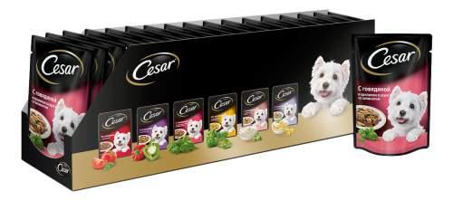 Миниатюра Влажный корм для собак Cesar, с говядиной и кроликом в соусе со шпинатом, 24шт, 100г №2