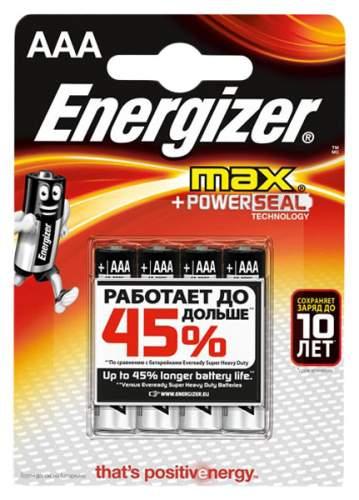 Батарейка Energizer MAX E92/ААА BP4 4 шт