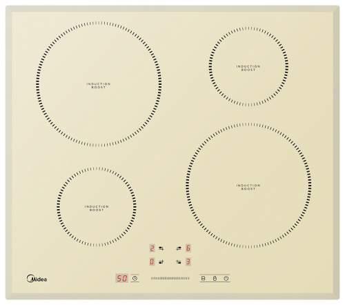 Встраиваемая варочная панель индукционная Midea MIH64721FIV Beige