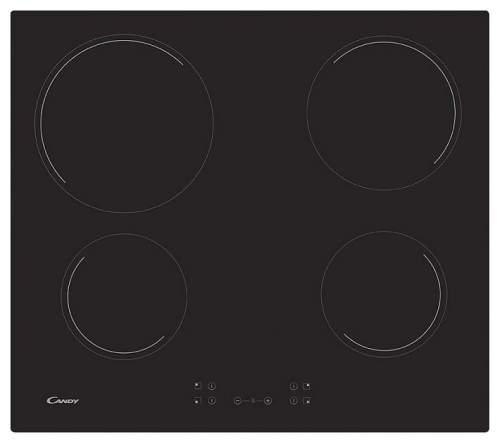 Встраиваемая варочная панель электрическая Candy CH 64 CCB Black
