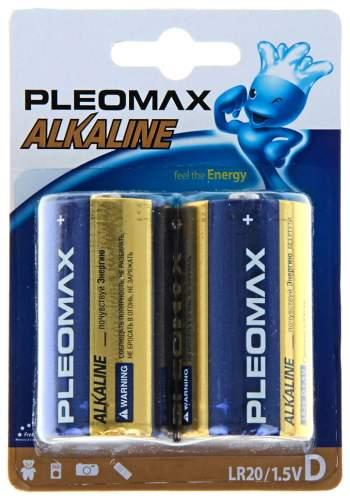Батарейка Samsung Pleomax LR20-2BL щелочная 2 шт